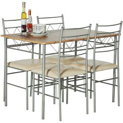Boondocks Steel Chair Effect Toddler Toys R Us Home Oslo Wood Dining Table And 4 Metal 89