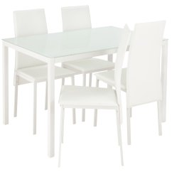 White Table Chairs Universal Chair Covers For Weddings Buy Argos Home Lido Glass Dining 4 Click To Zoom