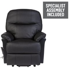 Electric Recliner Chairs Argos Target Patio Black Buy Lars Riser Leather Chair W Single Motor