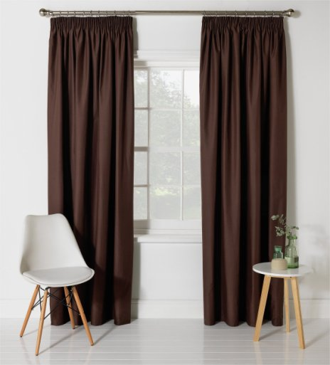 Buy HOME Blackout Thermal Curtains 168x183cm Chocolate At Argos