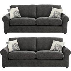 Argos Brooklyn Sofa Large Upscale Sofas Charcoal Metal Feet