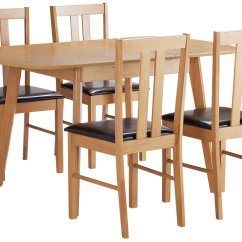 Wooden Kitchen Chairs Argos Banquet Canada Home Witley Extendable Wood Table And 4 Black