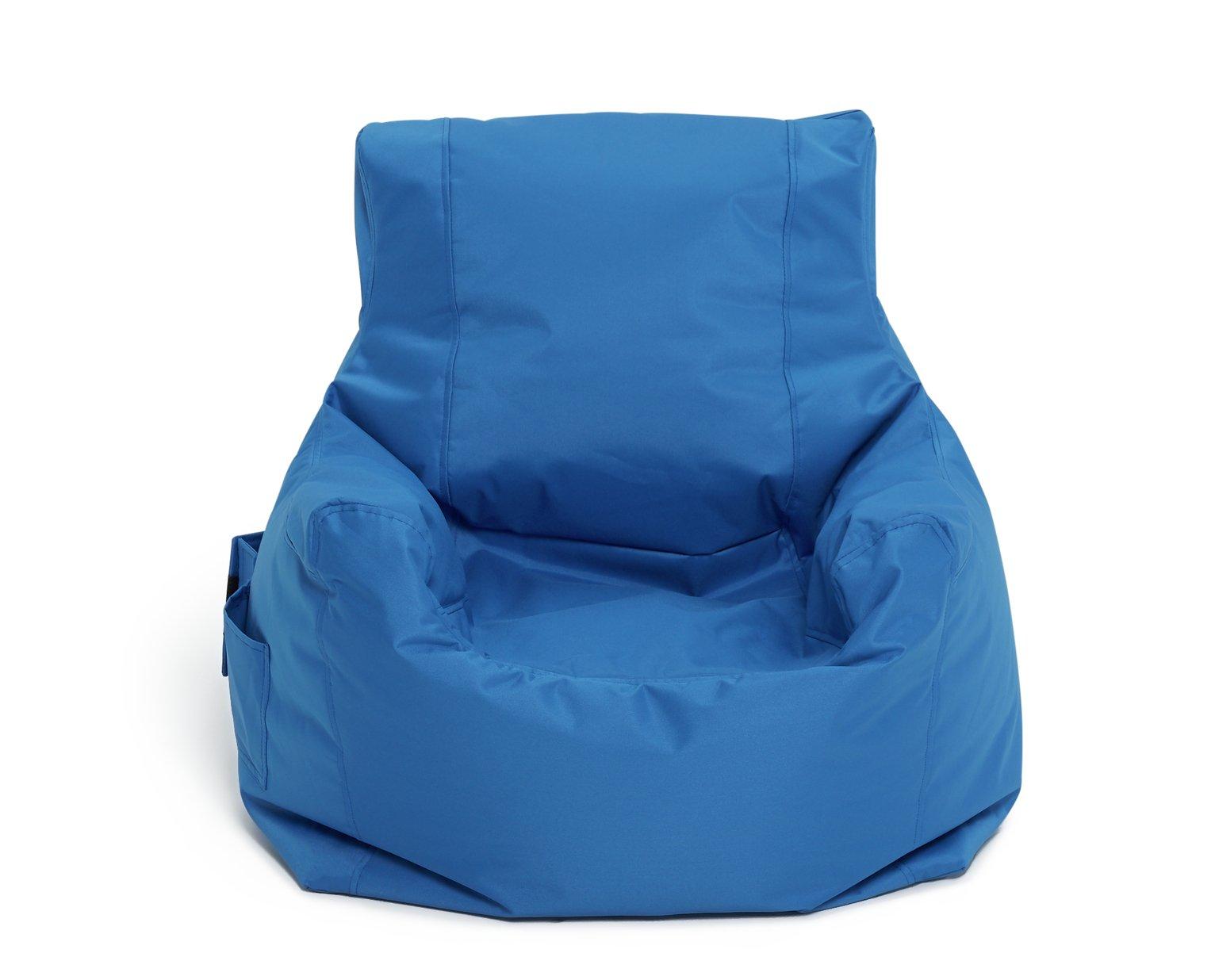 bean bag gaming chair argos office master chairs buy home teenager beanbag blue beanbags