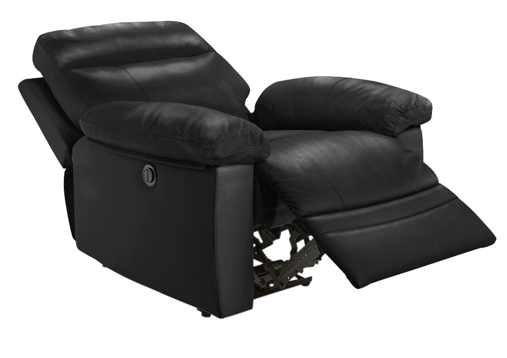 electric recliner chairs argos used chair covers buy home paolo faux leather power black click to zoom