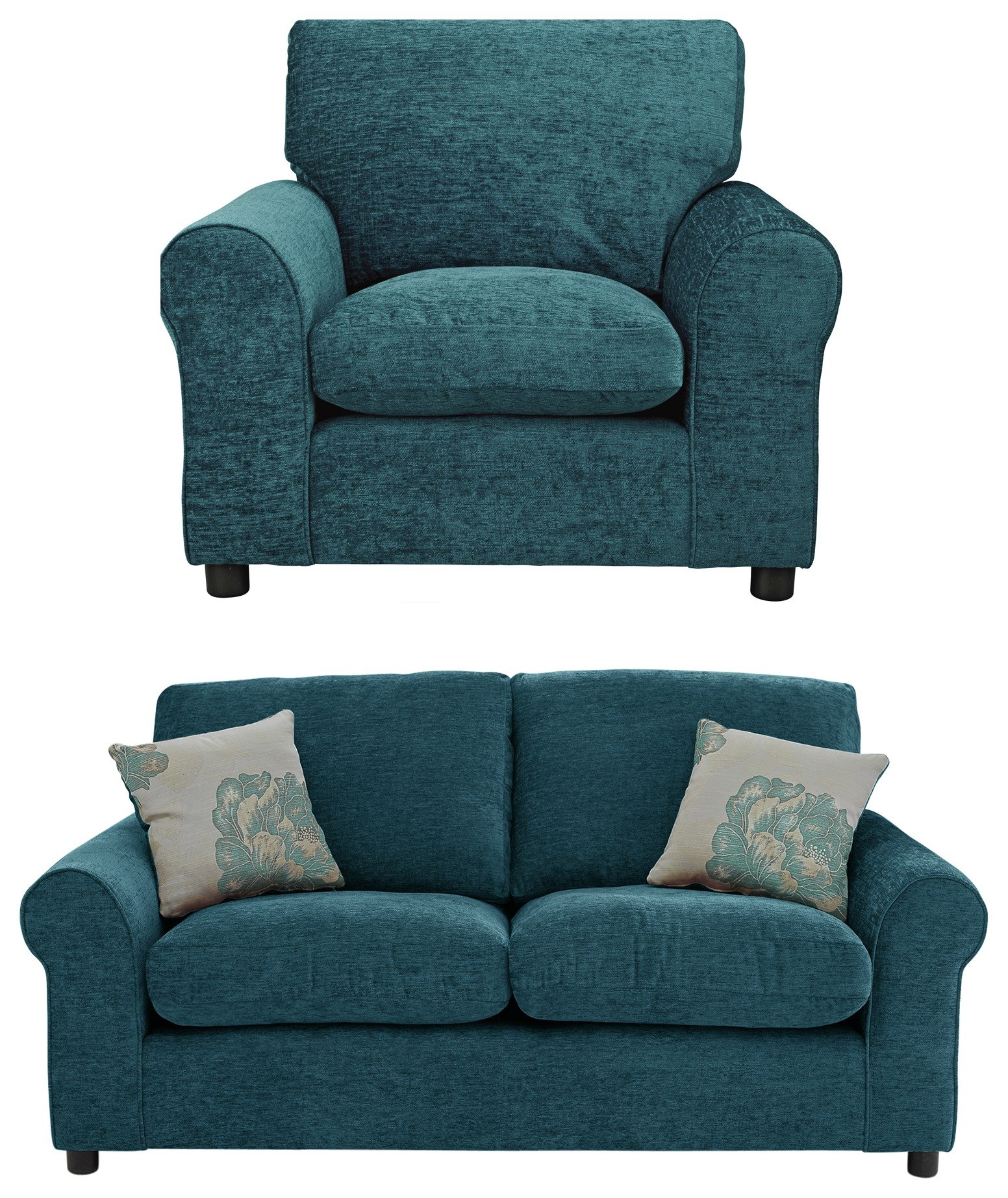 argos ava fabric sofa review best quality sectional sofas home tessa regular and chair teal