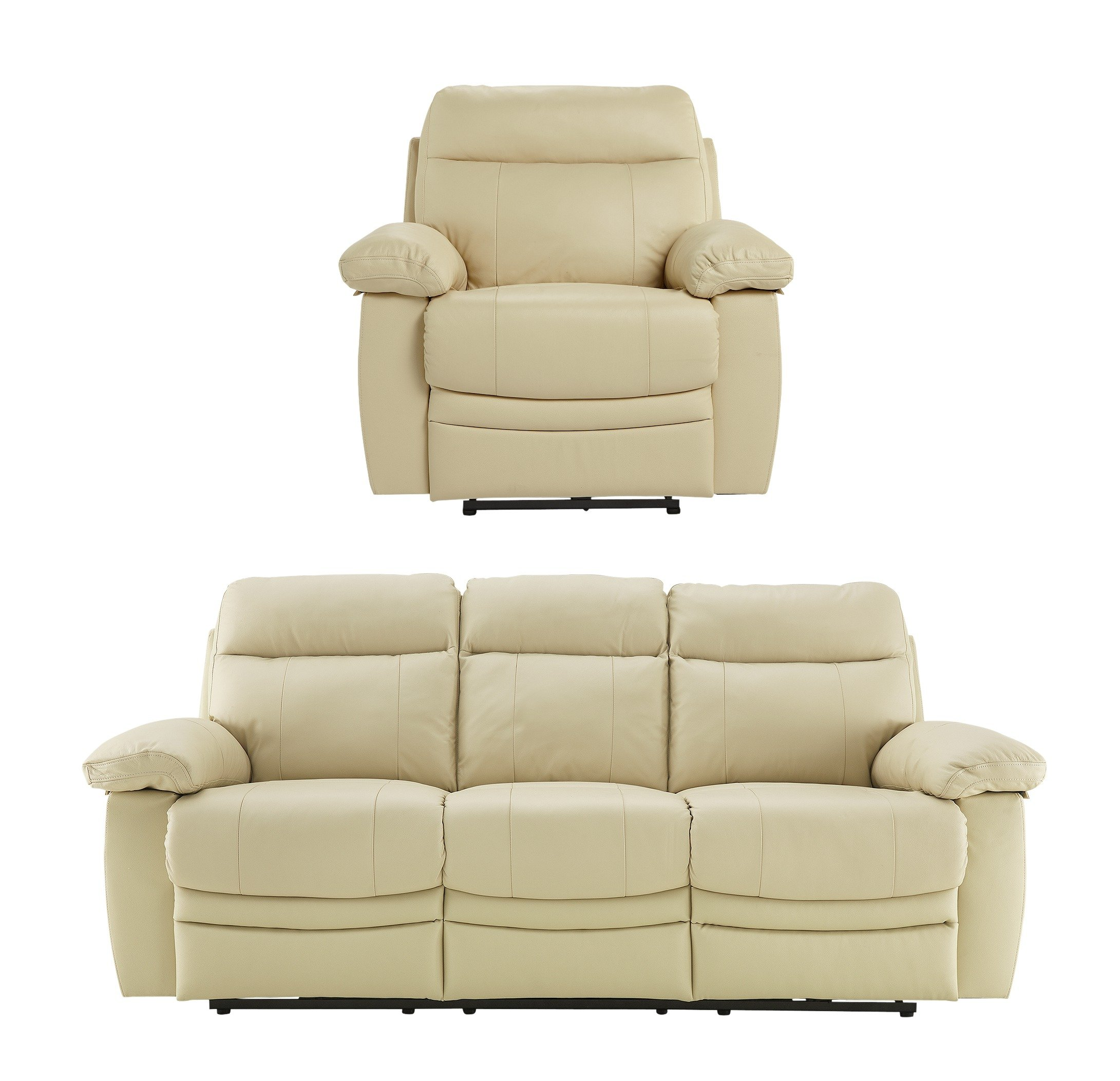 leather recliner sofas argos sofa covers online paulo large and chair ivory