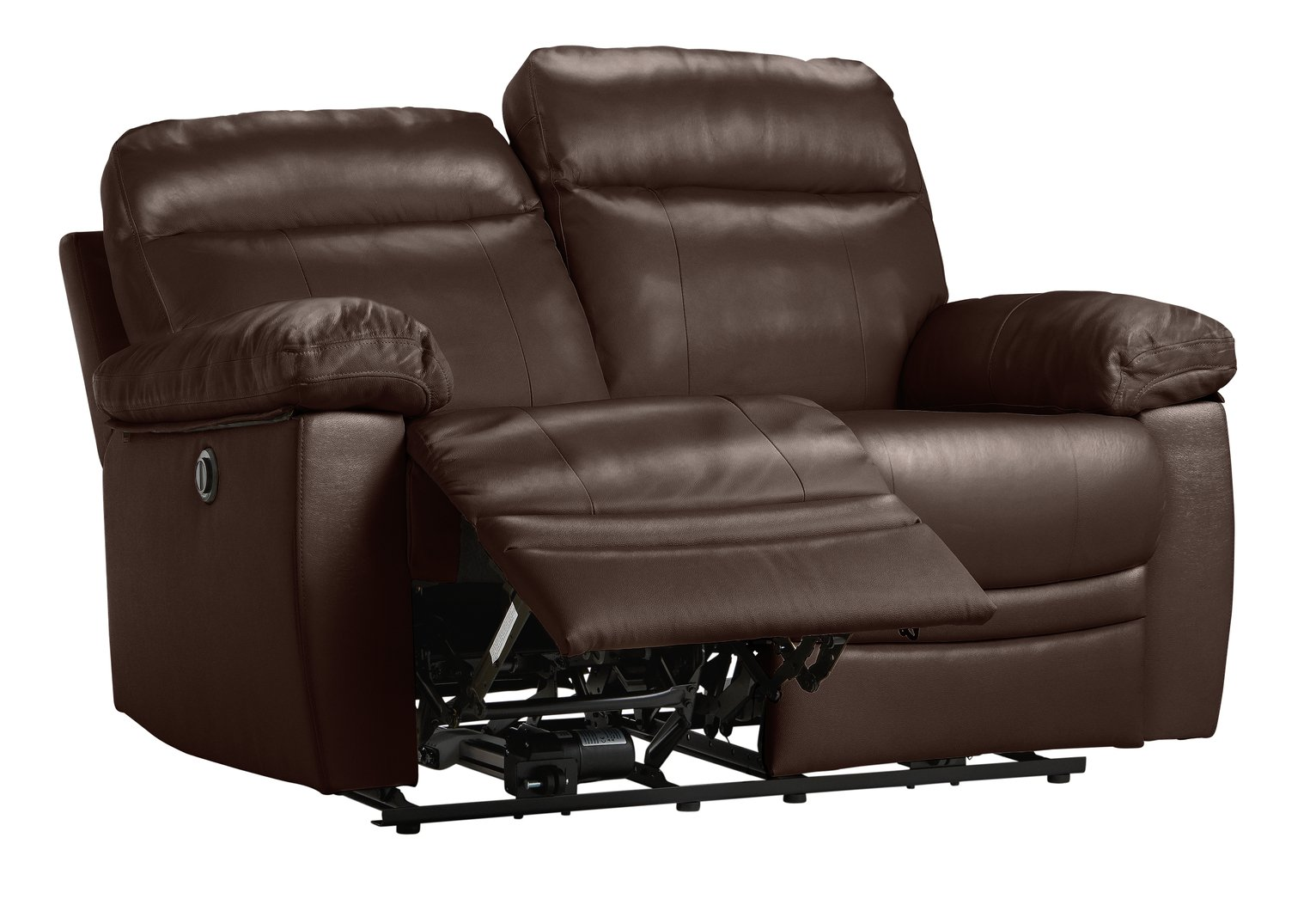 electric recliner leather sofas uk sofa mart futons buy argos home paolo 2 seater power brown
