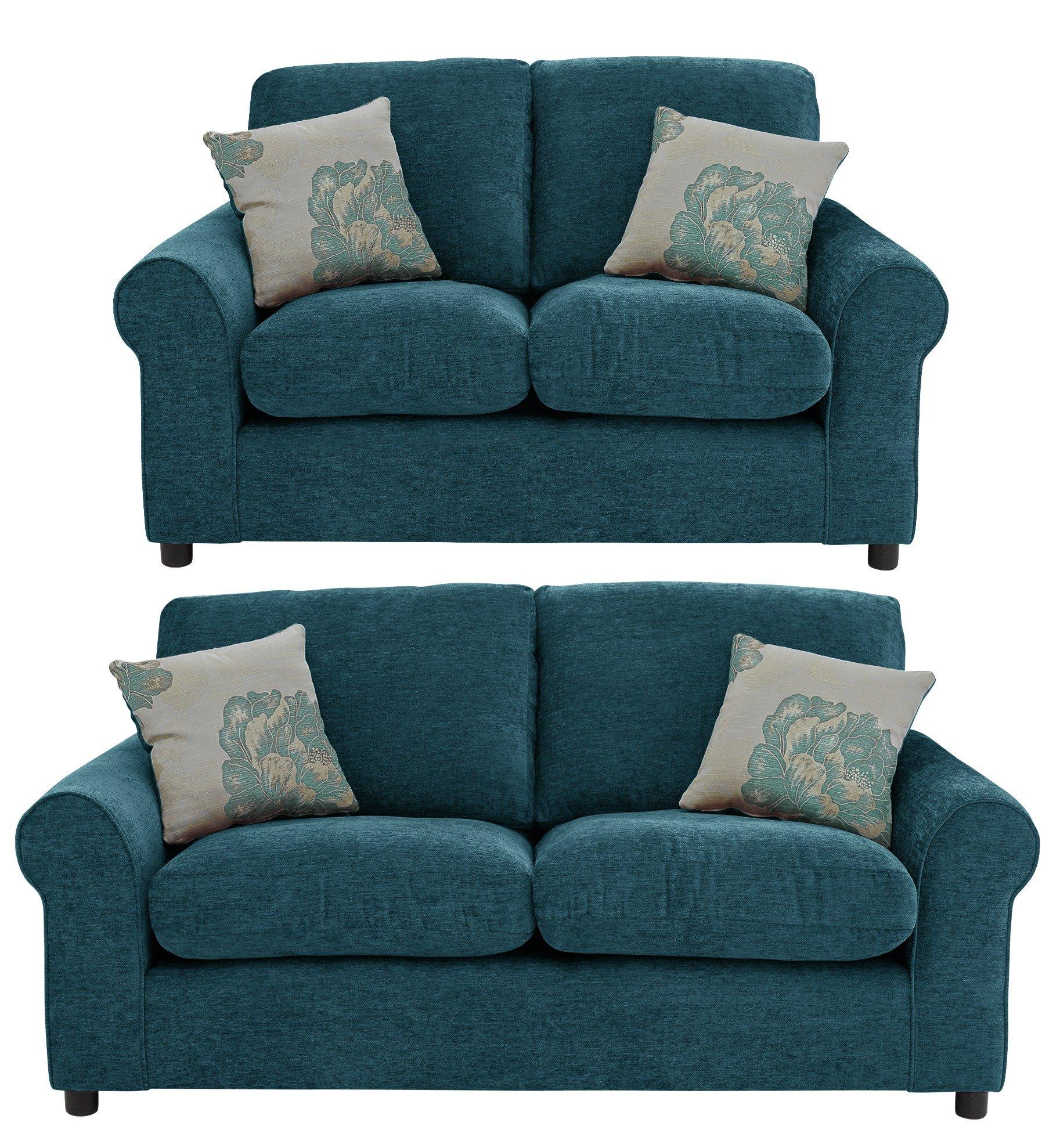 argos brooklyn sofa large nubuck leather cleaning home tessa and regular fabric teal