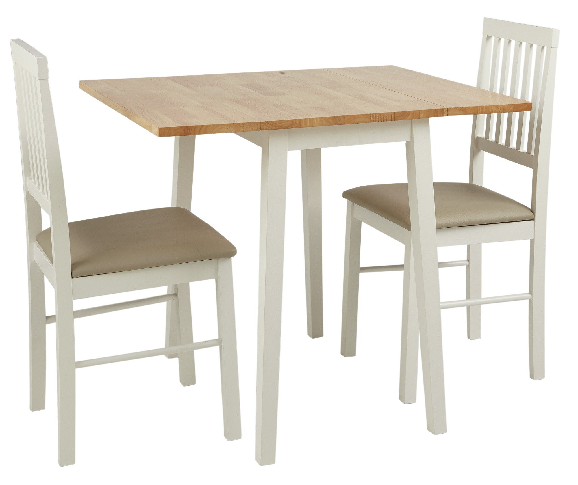 table and 2 chairs cheap office chair steel frame buy argos home kendal extendable wood two tone