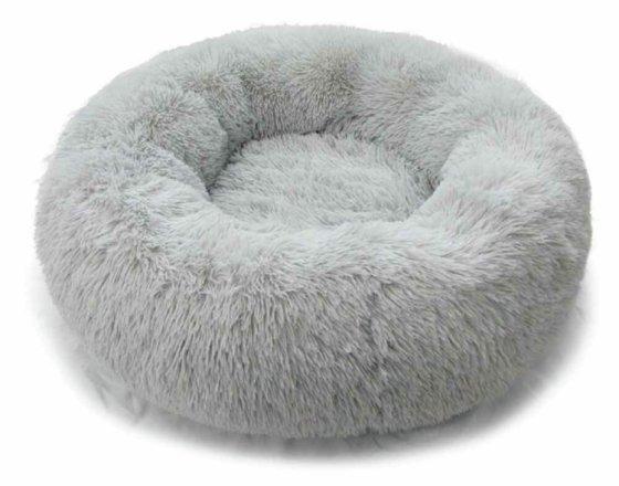 buy comfy calming donut bed medium dog beds argos