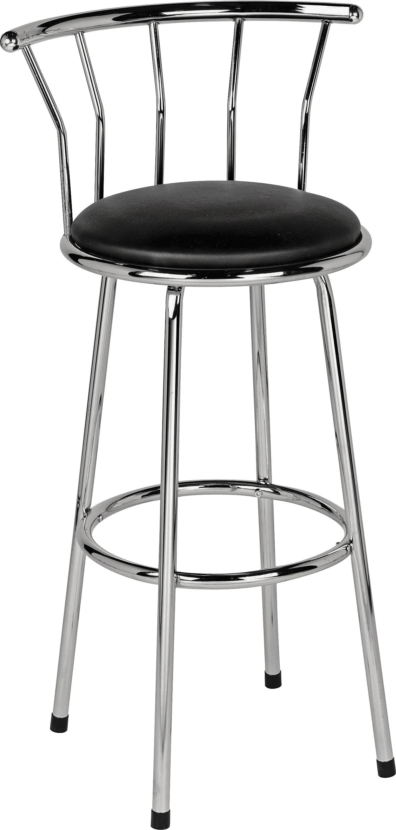 chair stool argos flexsteel sleeper buy home gemini leather effect bar black stools