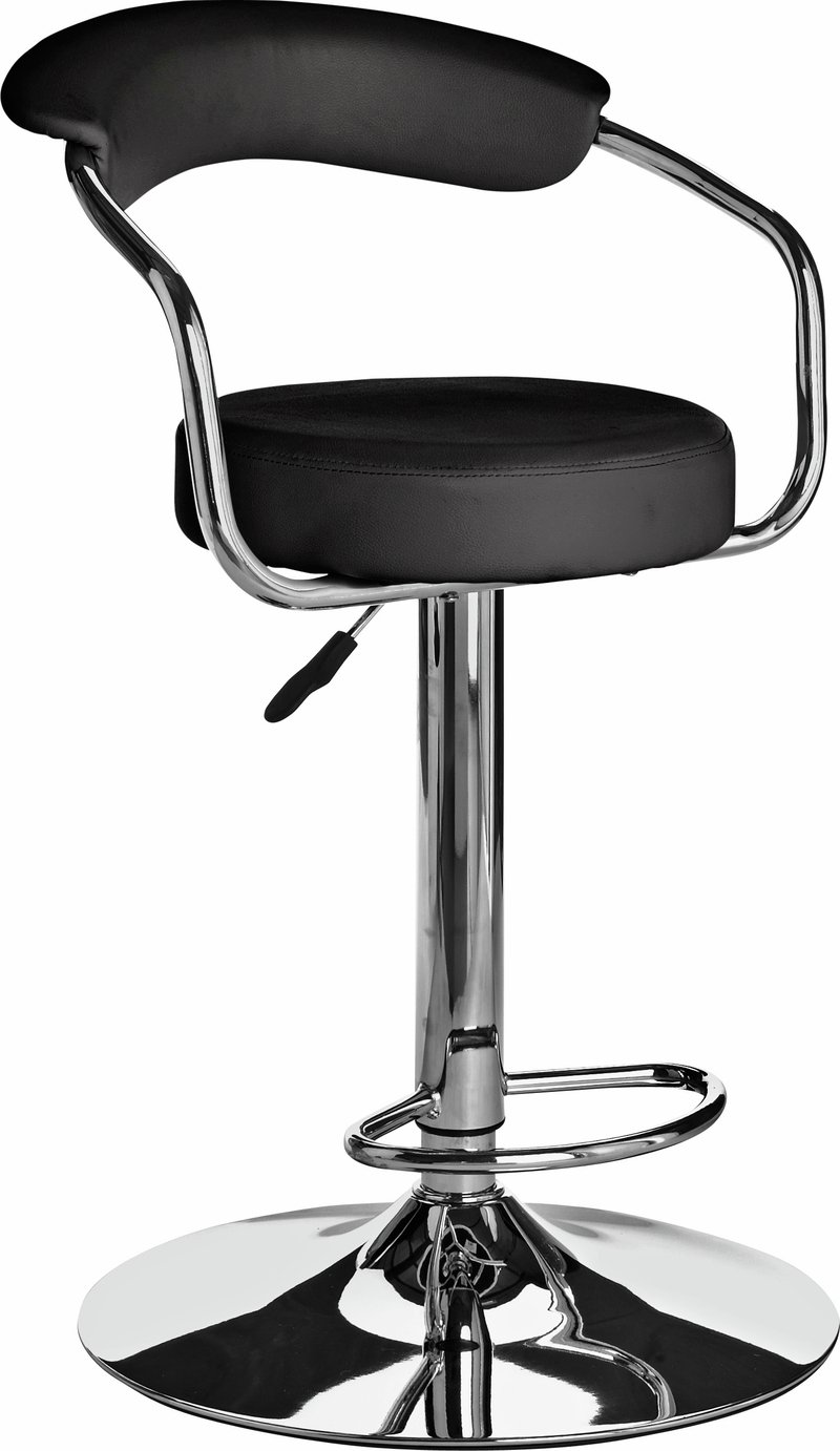 chair stool argos modern metal dining chairs buy home executive gas lift bar w back rest black