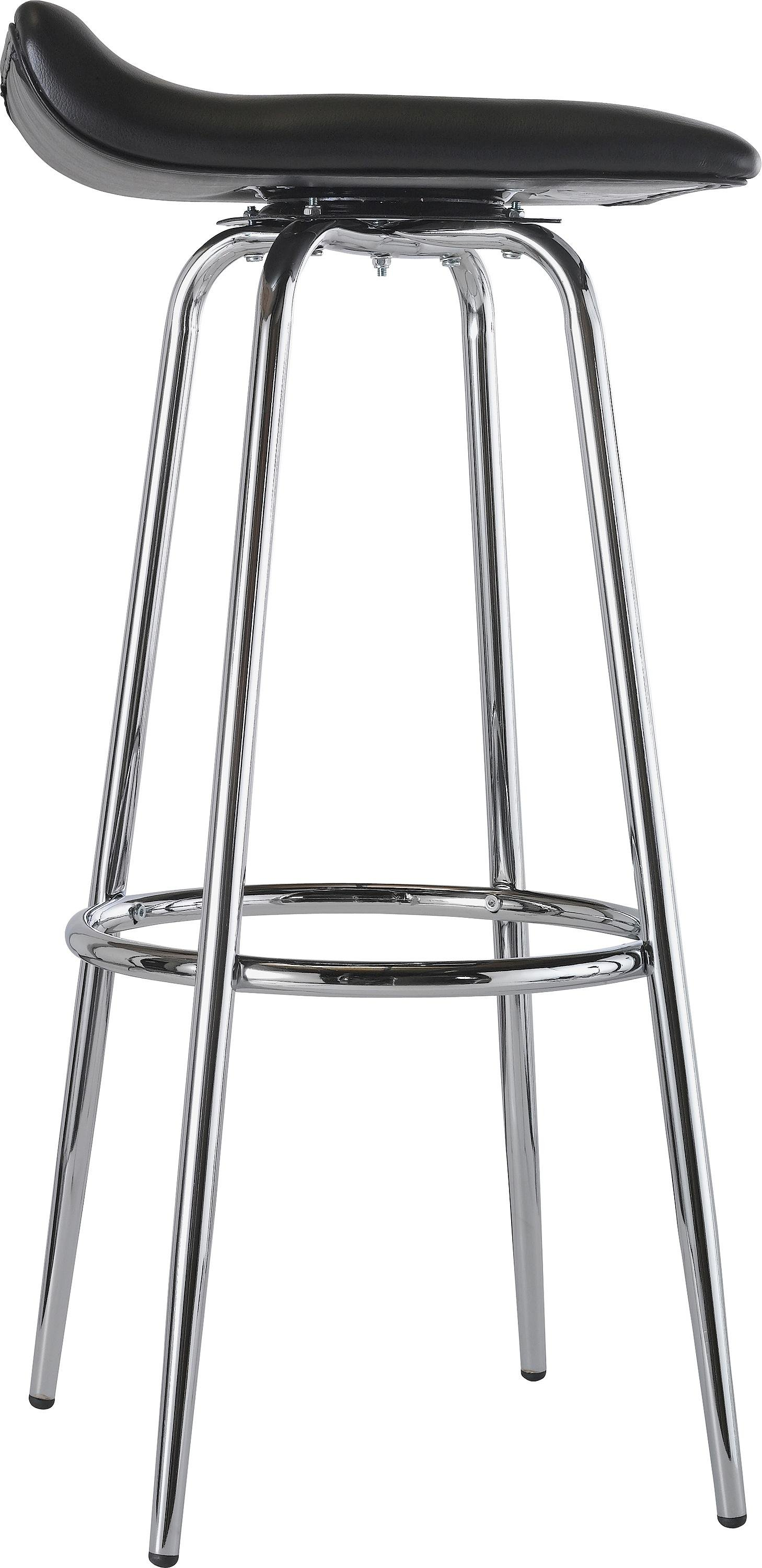kitchen chairs argos mainstays xl zero gravity chair with side table and canopy buy home pair of black chrome swivel head bar stools at argos.co.uk - your online shop for ...
