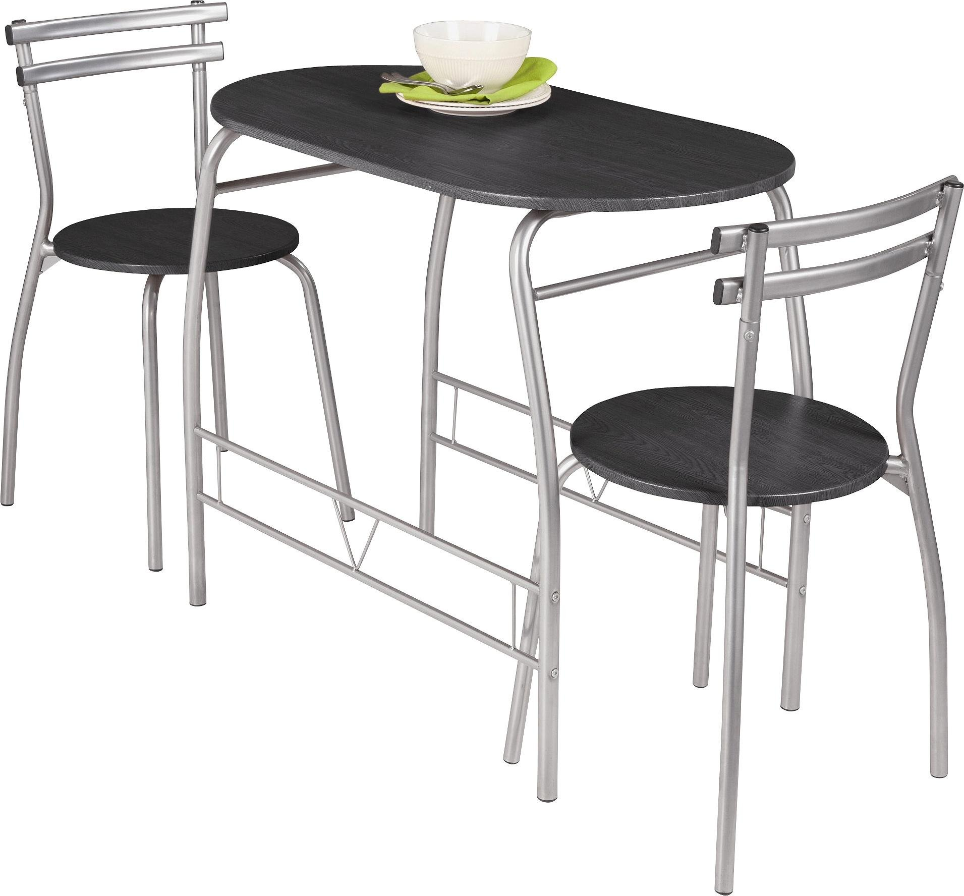 drop leaf table and chairs argos tiger print dining home vegas 2 black 6006486