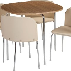 Small Kitchen Table And Chairs Argos Lift Chair Alberta Buy Home Amparo Oak Effect Dining 4 Cream