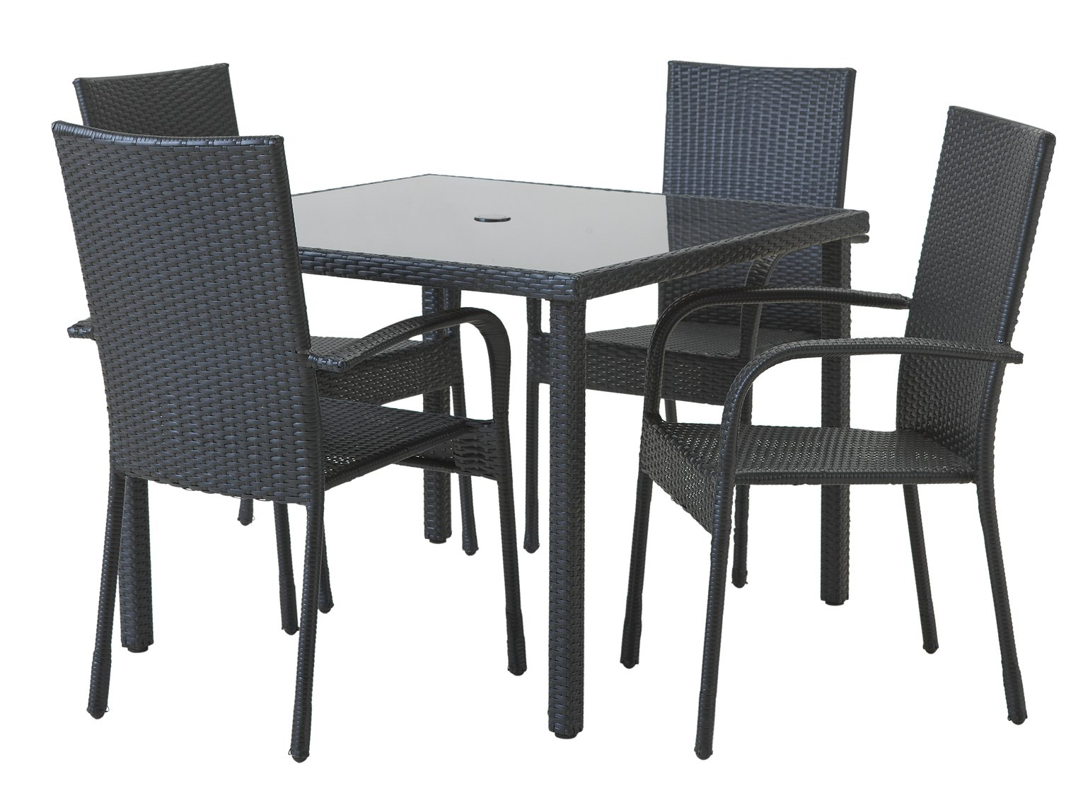 rattan chairs argos quirky chair covers sale on home lima 4 seater effect patio set with