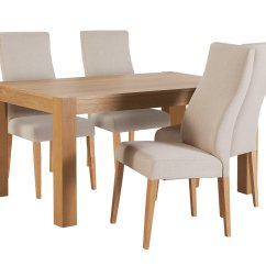 Wooden Kitchen Chairs Argos Commode Chair Uk Sale On Heart Of House Alston 150cm Table And 4 Curve