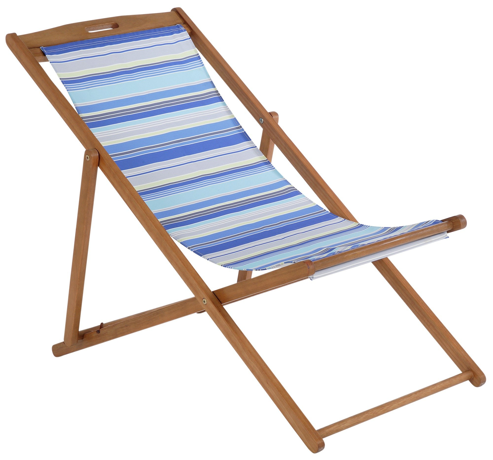 SALE on Deck Chair  Blue Striped  Argos Now Available