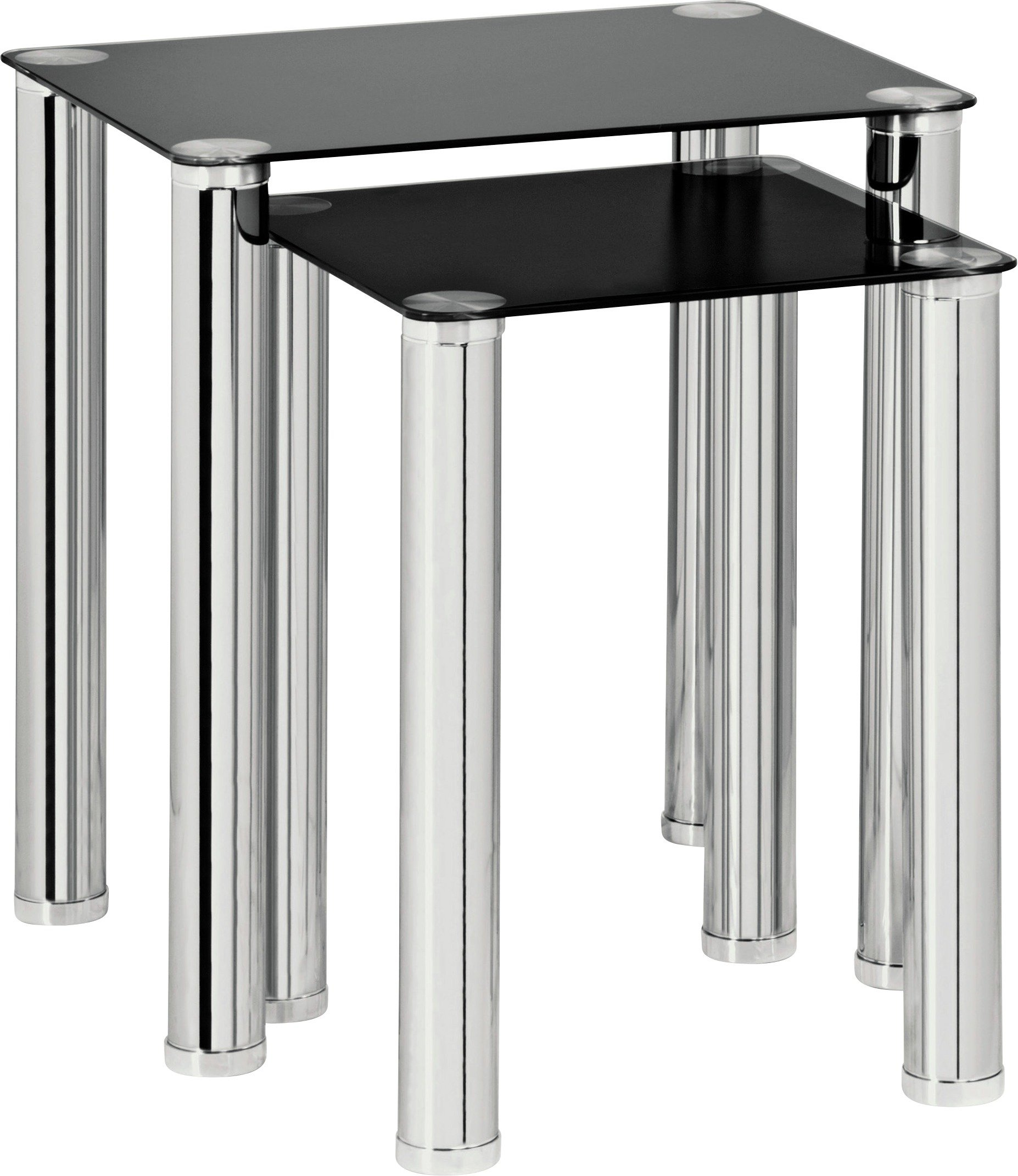 SALE On Argos Home Matrix Nest Of 2 Tables Black Glass
