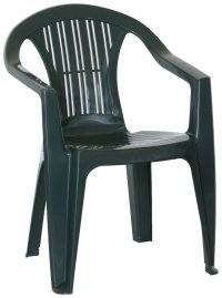 HOME BICA Stacking Weather Resistant Plastic Chair Green ...