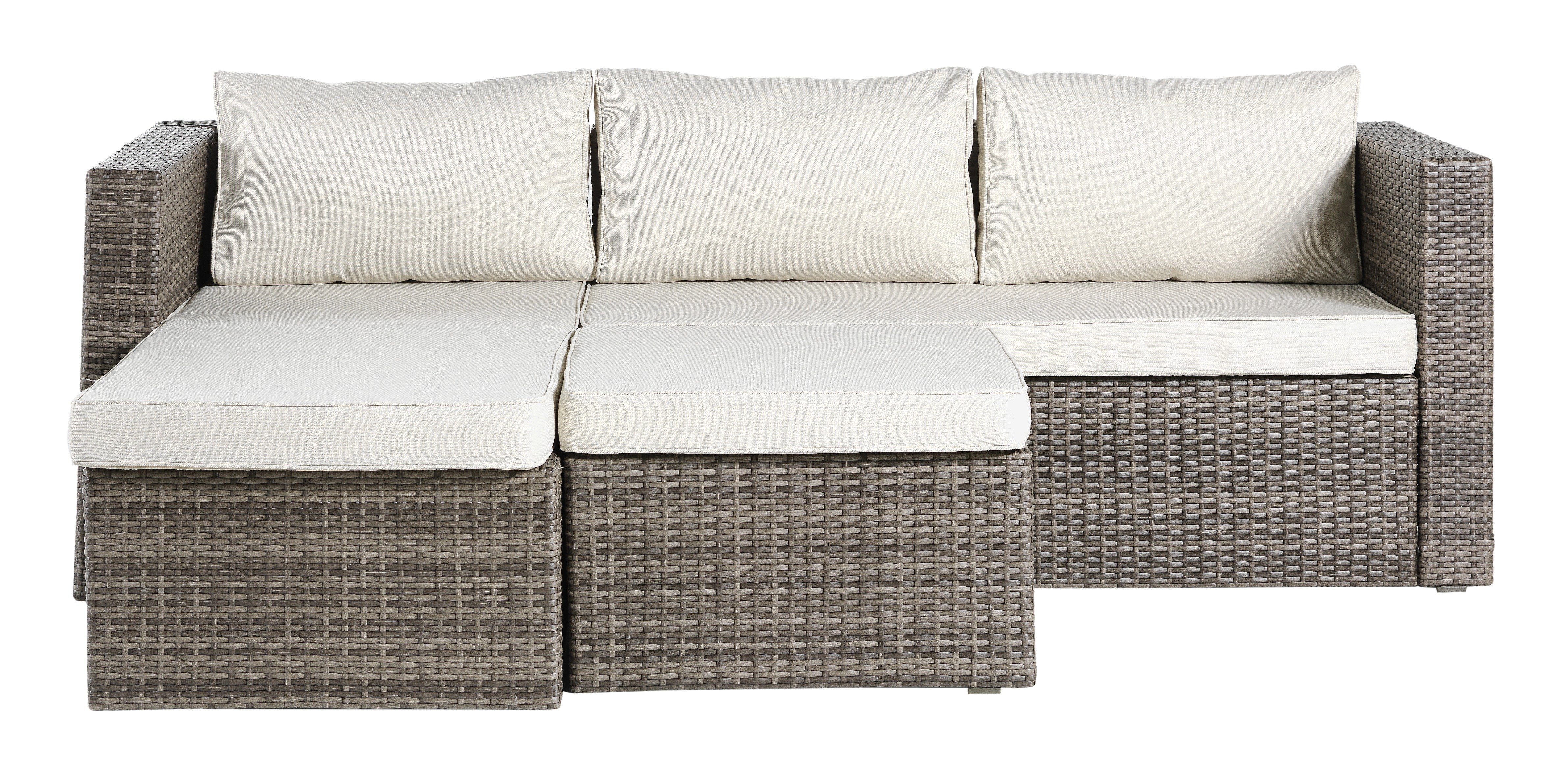 oxford 4 piece brown rattan effect sofa set small rounded corner find it for less