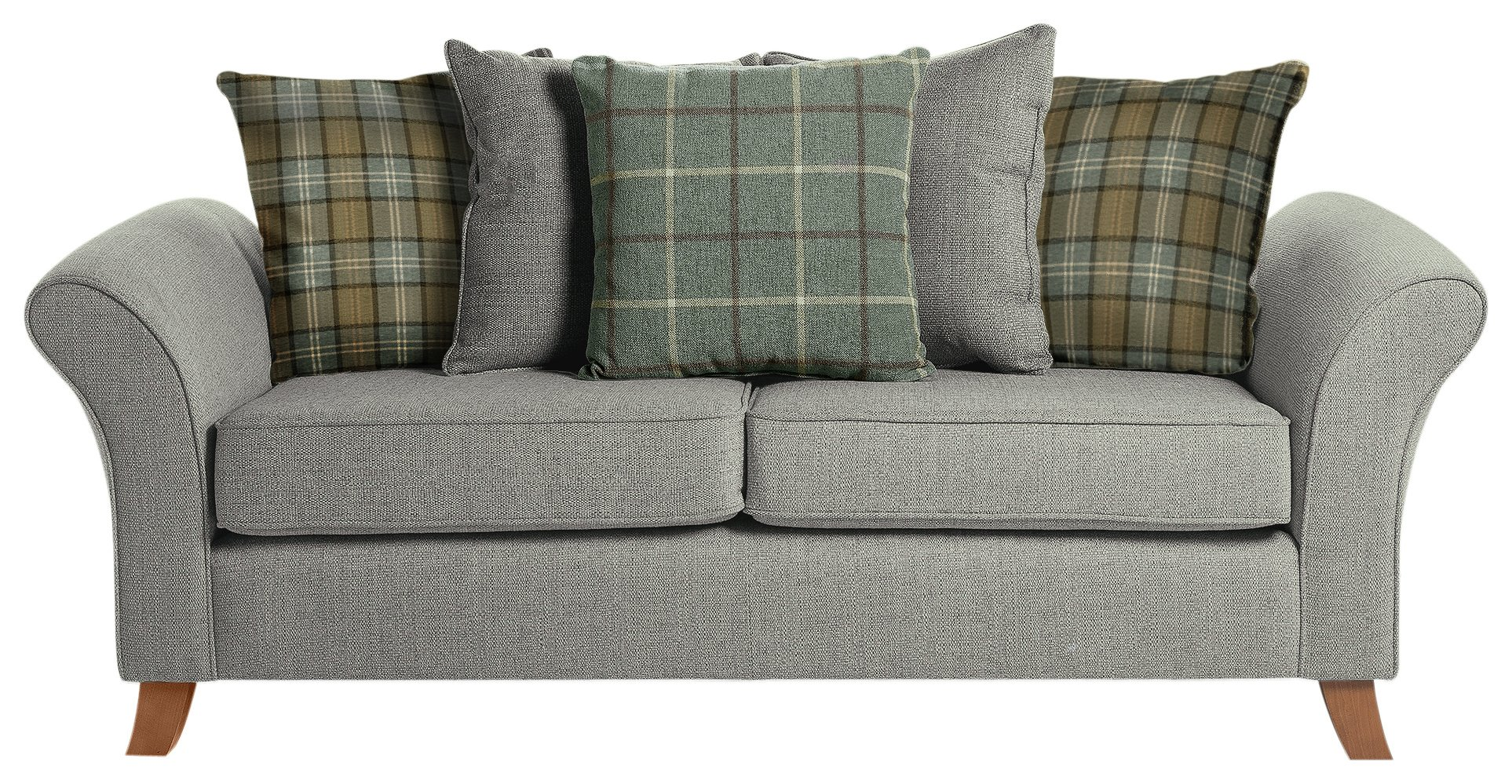 fabric chesterfield sofa argos buy loveseat bed sale on collection kayla 3 seater grey