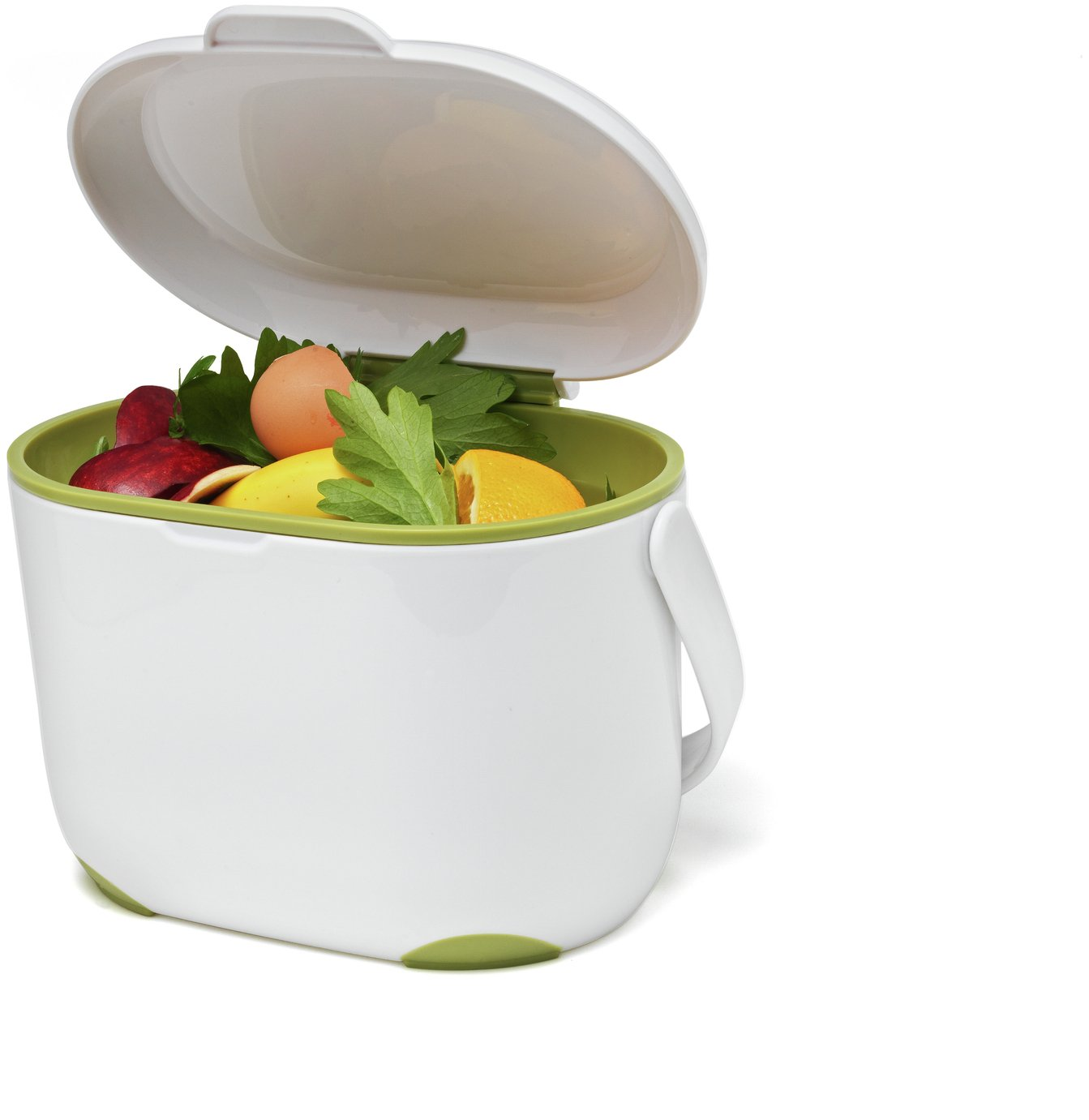 kitchen caddy remodeling ideas buy addis compost green and white bins argos click to zoom