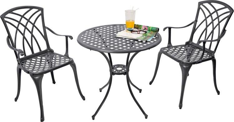 buy argos home porto 2 seater cast aluminium bistro set black patio sets argos