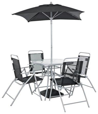 buy argos home atlantic 4 seater metal patio set black silver patio sets argos