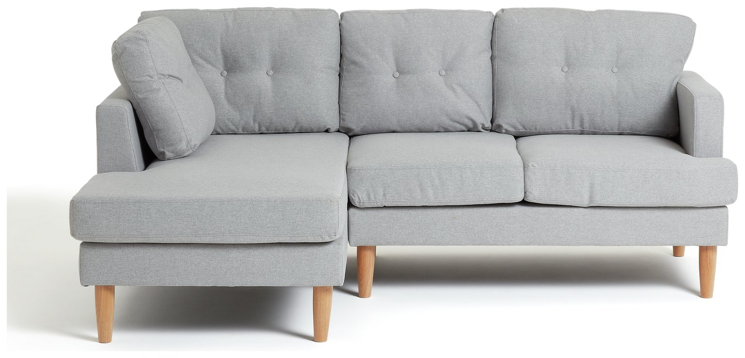 really small corner sofas modern sleeper sofa canada buy argos home joshua left fabric light grey click to zoom