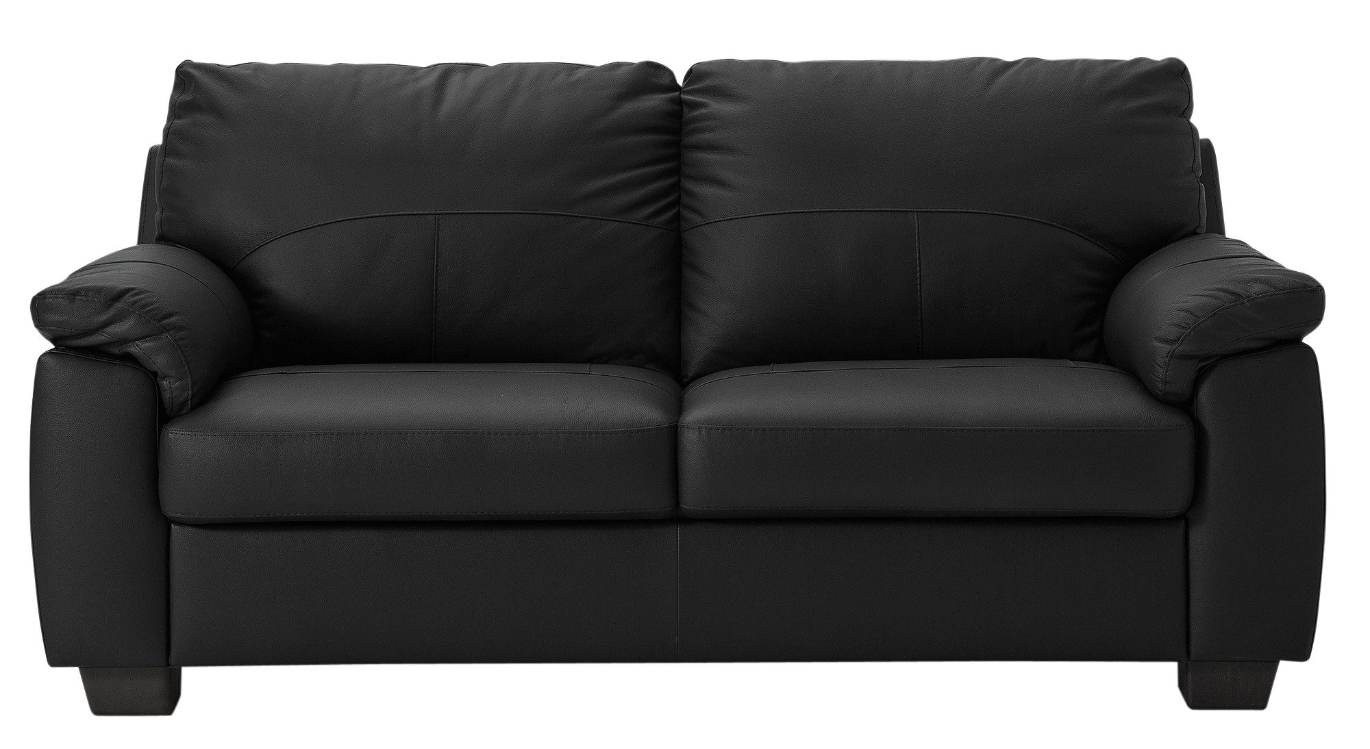 one and half seater sofa power reclining reviews 2017 buy argos home logan 3 faux leather black sofas