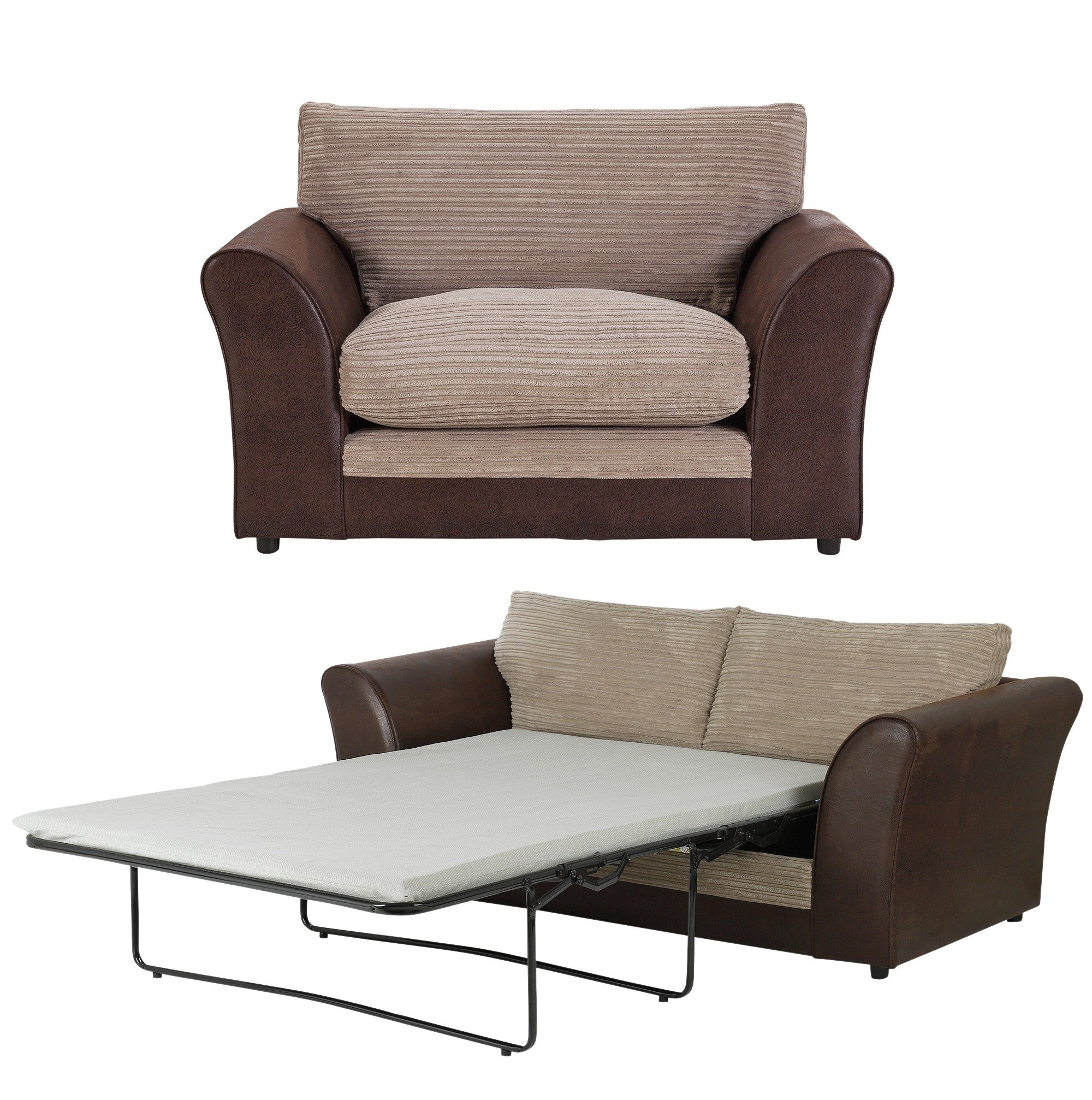 sofa beds argos co uk thomas payne rv tri fold home harley 2 seater bed and cuddle chair natural