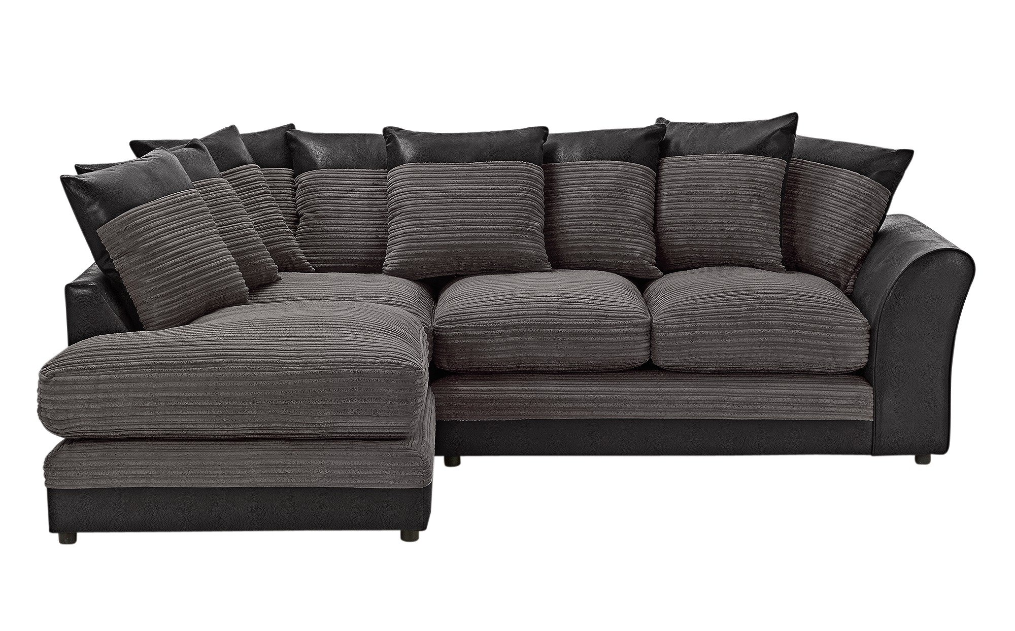 3 seater rattan effect mini corner sofa black baja convert a couch bed with set of 2 recliners multiple colors argos | www.energywarden.net