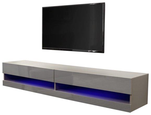 buy galicia 150cm led wall tv unit grey tv units argos