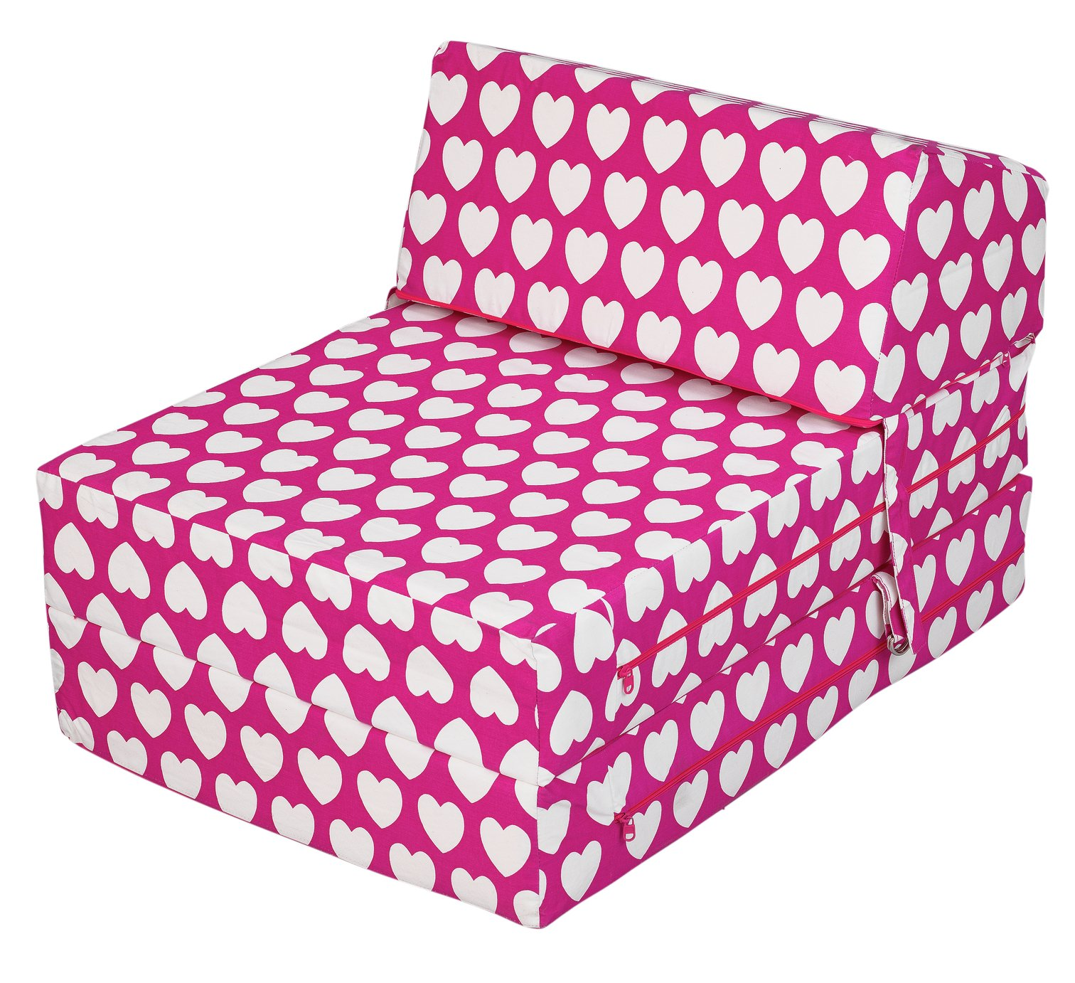 fold out chair bed argos revolving in ahmedabad buy home hearts flip sofa beds chairbeds and