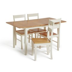 Rubberwood Butterfly Table With 4 Chairs Helsinki Posture Chair Buy Argos Home Chicago Extendable Solid Wood