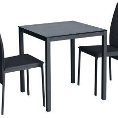 Table And 2 Chairs Cheap Recaro Racing Seats Office Chair Buy Argos Home Lido Glass Dining Black Space Modern