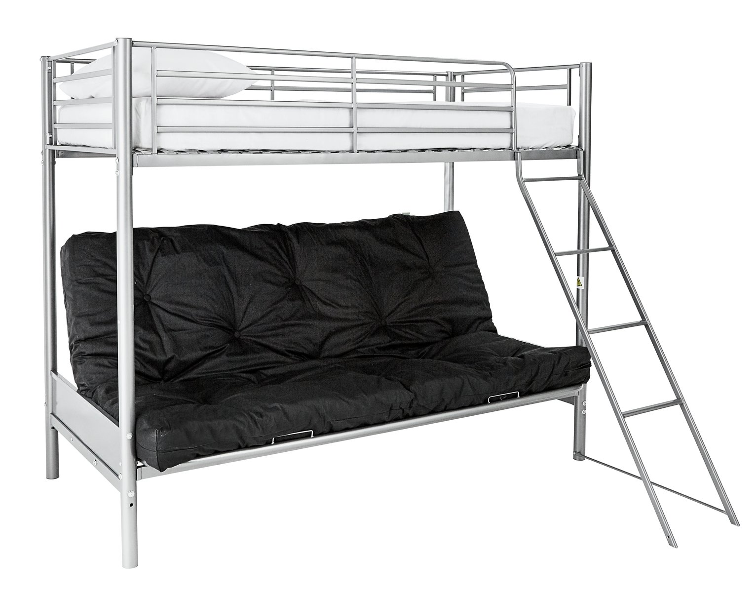 bunk beds with sofa bed underneath argos king single melbourne buy home metal frame black futon kids