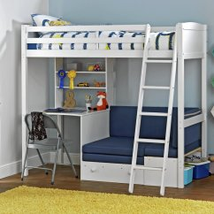 Bunk Beds With Sofa Bed Underneath Argos House Of Fraser Cream Leather Buy Home Classic White High Sleeper Blue