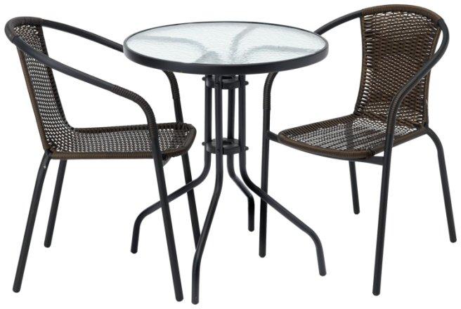 buy argos home 2 seater rattan effect balcony set brown patio sets argos