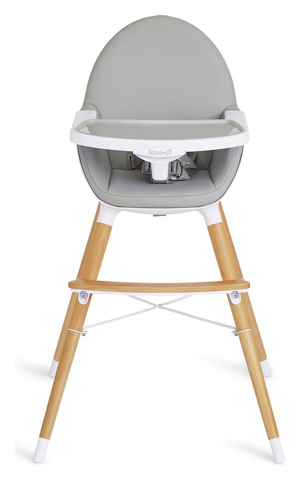 wooden high chair uk cover rentals hartford ct koo di duo grey 7498660 argos price tracker pricehistory co