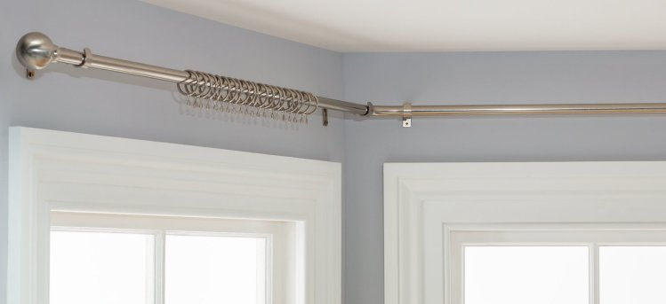 buy argos home bay ball 400cm curtain pole stainless steel curtain poles and tracks argos