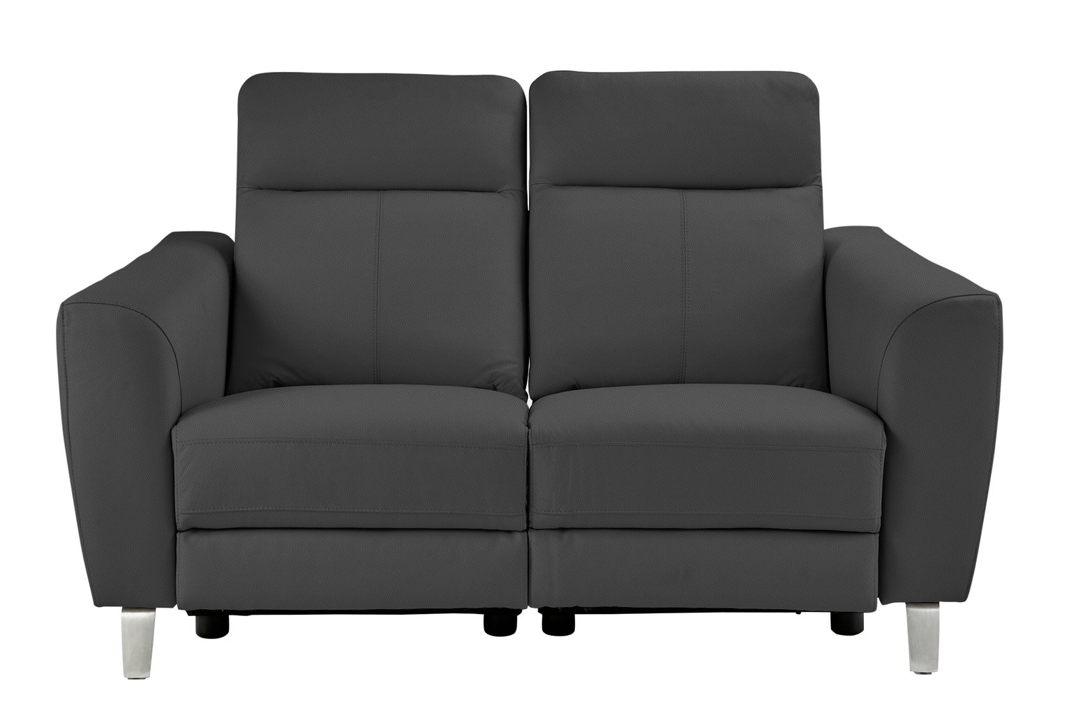 leather recliner sofas argos good quality hygena wyatt 2 seater power sofa black