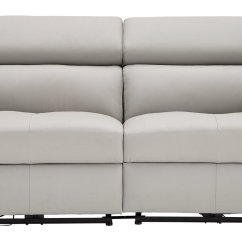 Grey Power Reclining Sofa Curved Back Sectional Buy Argos Home Valencia 3 Seater Recliner Light