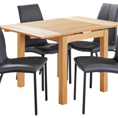 Fishing Chair Argos Striped Wingback Home Oslo Wood Effect Dining Table And 4 Metal Chairs