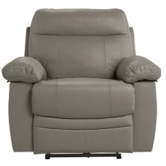 Electric Recliner Chairs Argos Wedding Chair Cover Hire Stirling Buy Home Paolo Faux Leather Power Grey