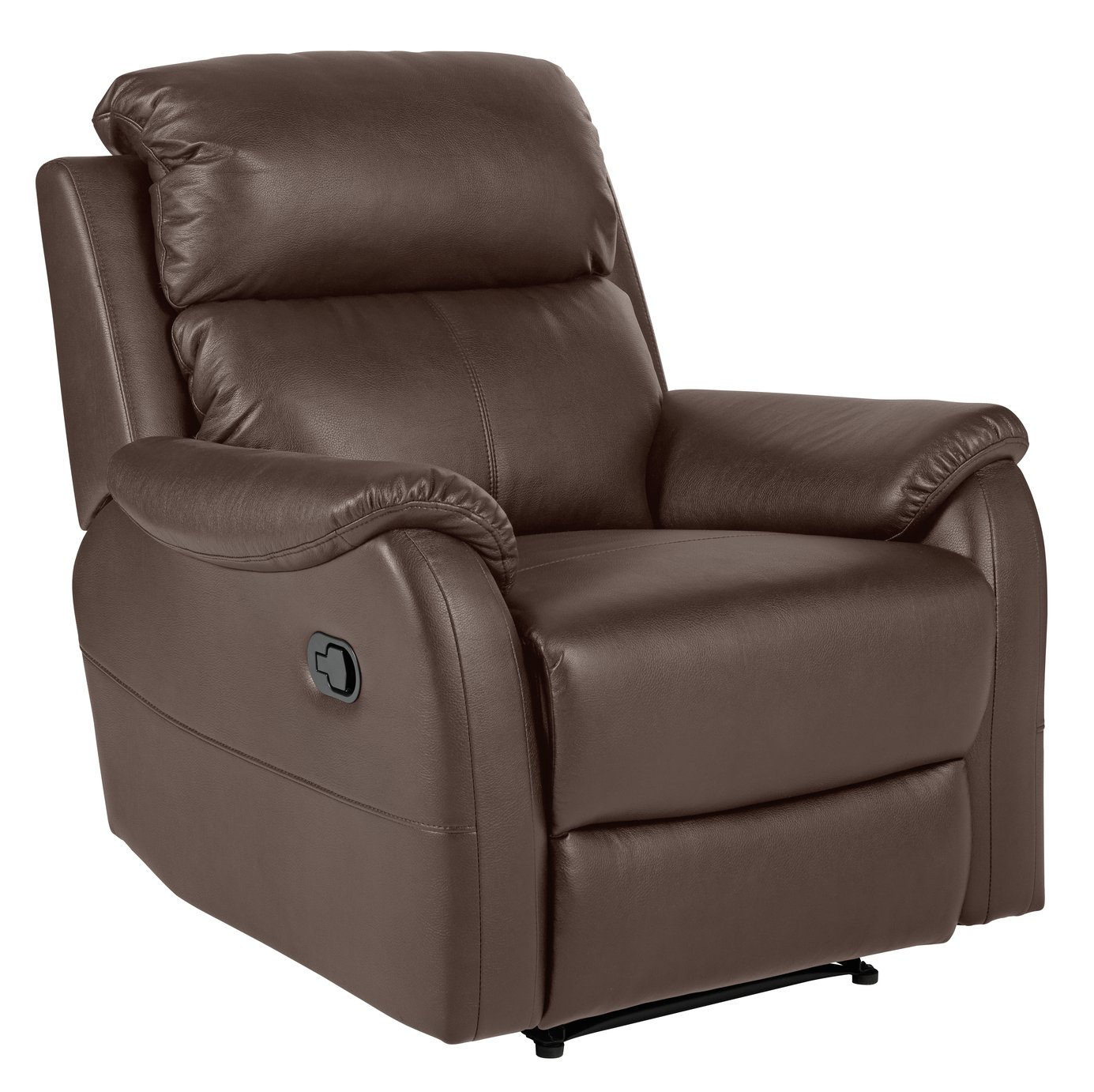 electric recliner chairs argos fabric dining side buy home tyler leather manual chair chocolate click to zoom