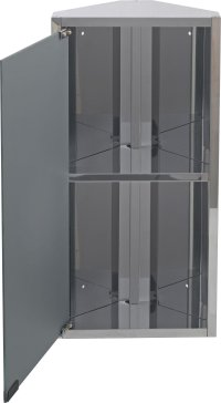 Buy HOME Mirrored Bathroom Corner Cabinet - Stainless ...