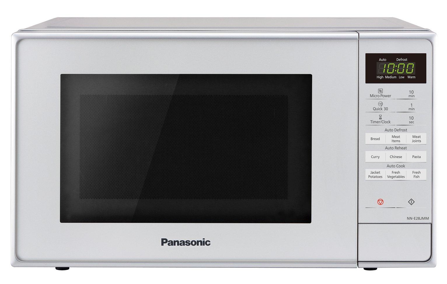 buy panasonic 800w standard 20l microwave nn e28jmmbpq silver microwaves argos
