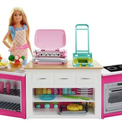 Barbie Kitchen Playset Cabinets Ri Buy Ultimate With Doll Dolls Furniture Argos